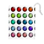 Button Icon About Colorful Shiny Drawstring Pouches (Extra Large) Front
