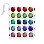 Button Icon About Colorful Shiny Drawstring Pouches (Extra Large) Back
