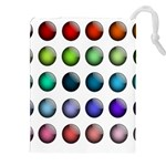 Button Icon About Colorful Shiny Drawstring Pouches (XXL) Front