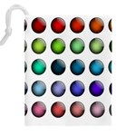 Button Icon About Colorful Shiny Drawstring Pouches (XXL) Back