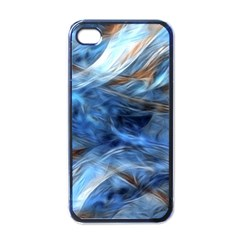 Blue Colorful Abstract Design  Apple iPhone 4 Case (Black)
