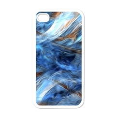 Blue Colorful Abstract Design  Apple Iphone 4 Case (white)