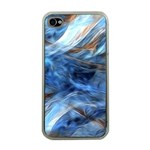 Blue Colorful Abstract Design  Apple iPhone 4 Case (Clear) Front