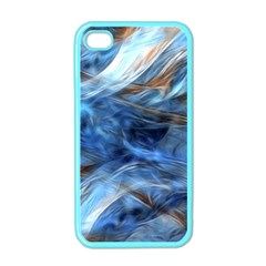 Blue Colorful Abstract Design  Apple Iphone 4 Case (color)
