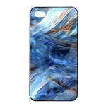 Blue Colorful Abstract Design  Apple iPhone 4/4s Seamless Case (Black) Front