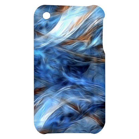 Blue Colorful Abstract Design  Apple iPhone 3G/3GS Hardshell Case