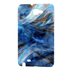 Blue Colorful Abstract Design  Samsung Galaxy Note 1 Hardshell Case
