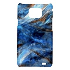 Blue Colorful Abstract Design  Samsung Galaxy S2 i9100 Hardshell Case