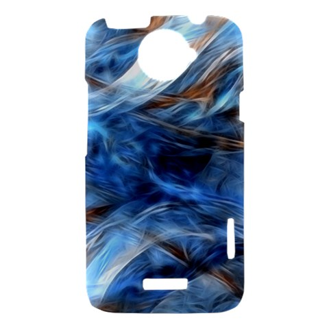 Blue Colorful Abstract Design  HTC One X Hardshell Case