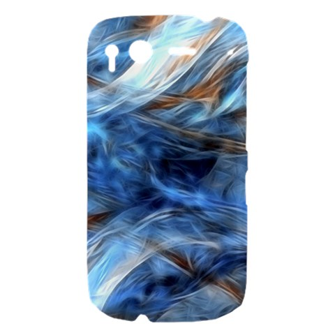 Blue Colorful Abstract Design  HTC Desire S Hardshell Case