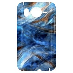 Blue Colorful Abstract Design  HTC Desire HD Hardshell Case