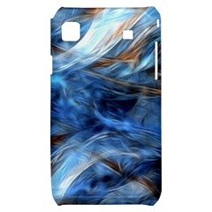 Blue Colorful Abstract Design  Samsung Galaxy S i9000 Hardshell Case
