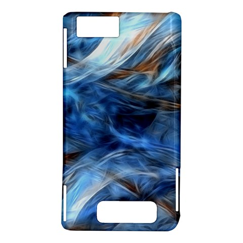 Blue Colorful Abstract Design  Motorola DROID X2