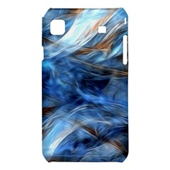 Blue Colorful Abstract Design  Samsung Galaxy S i9008 Hardshell Case
