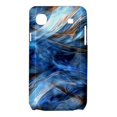 Blue Colorful Abstract Design  Samsung Galaxy SL i9003 Hardshell Case