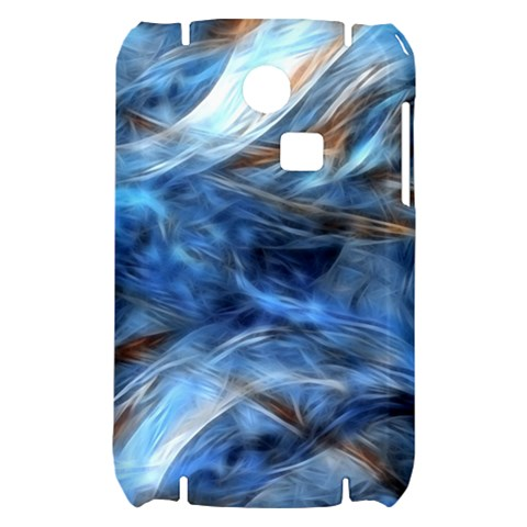 Blue Colorful Abstract Design  Samsung S3350 Hardshell Case