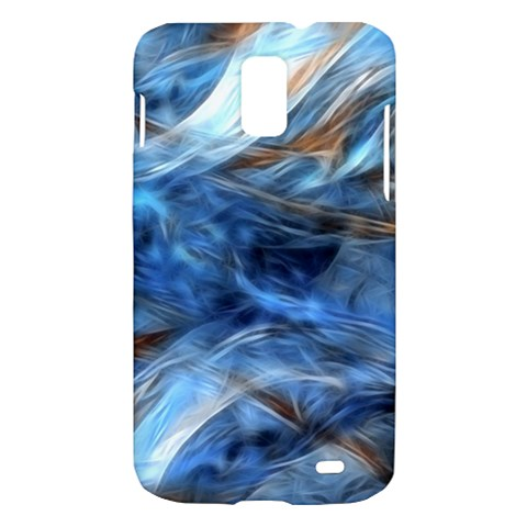 Blue Colorful Abstract Design  Samsung Galaxy S II Skyrocket Hardshell Case