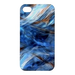 Blue Colorful Abstract Design  Apple Iphone 4/4s Premium Hardshell Case