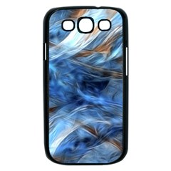 Blue Colorful Abstract Design  Samsung Galaxy S III Case (Black)