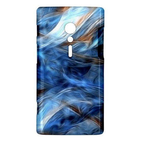 Blue Colorful Abstract Design  Sony Xperia ion