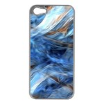 Blue Colorful Abstract Design  Apple iPhone 5 Case (Silver) Front