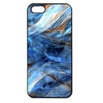 Blue Colorful Abstract Design  Apple iPhone 5 Seamless Case (Black) Front