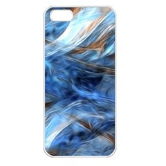 Blue Colorful Abstract Design  Apple Iphone 5 Seamless Case (white)