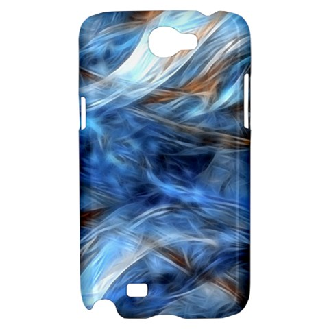 Blue Colorful Abstract Design  Samsung Galaxy Note 2 Hardshell Case