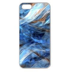 Blue Colorful Abstract Design  Apple Seamless Iphone 5 Case (clear)