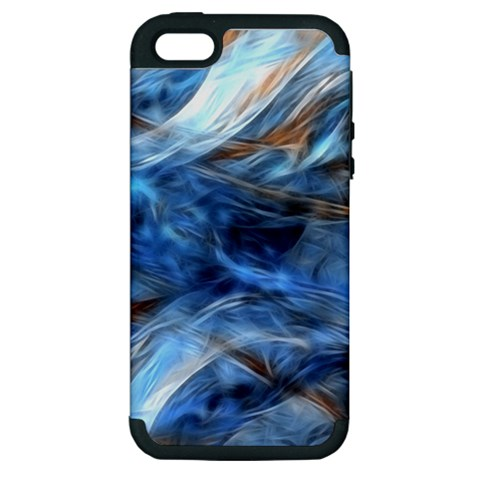 Blue Colorful Abstract Design  Apple iPhone 5 Hardshell Case (PC+Silicone)