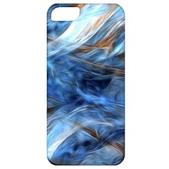 Blue Colorful Abstract Design  Apple iPhone 5 Classic Hardshell Case