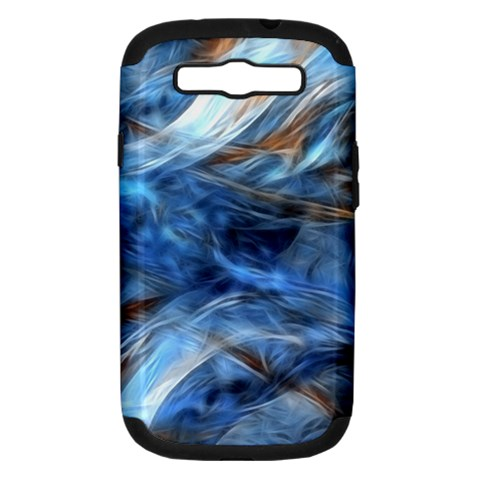 Blue Colorful Abstract Design  Samsung Galaxy S III Hardshell Case (PC+Silicone)