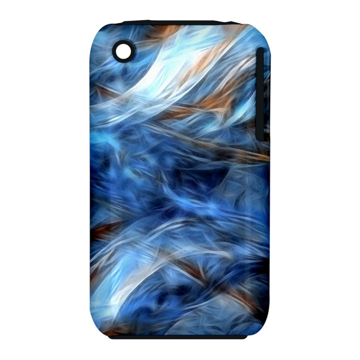 Blue Colorful Abstract Design  Apple iPhone 3G/3GS Hardshell Case (PC+Silicone)