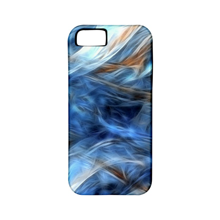 Blue Colorful Abstract Design  Apple iPhone 5 Classic Hardshell Case (PC+Silicone)
