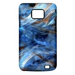 Blue Colorful Abstract Design  Samsung Galaxy S II i9100 Hardshell Case (PC+Silicone)