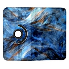 Blue Colorful Abstract Design  Samsung Galaxy Note II Flip 360 Case