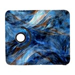 Blue Colorful Abstract Design  Samsung Galaxy S  III Flip 360 Case Front