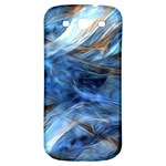 Blue Colorful Abstract Design  Samsung Galaxy S3 S III Classic Hardshell Back Case Front