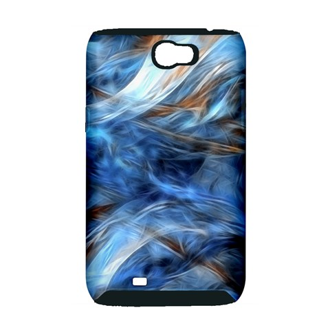 Blue Colorful Abstract Design  Samsung Galaxy Note 2 Hardshell Case (PC+Silicone)