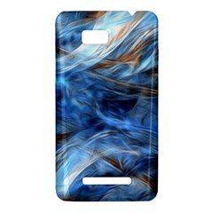 Blue Colorful Abstract Design  HTC One SU T528W Hardshell Case
