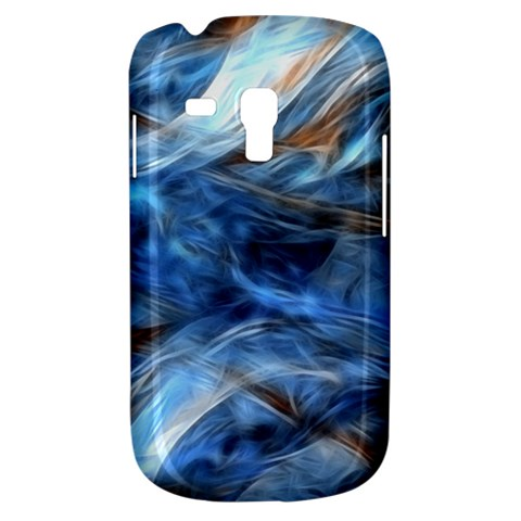Blue Colorful Abstract Design  Samsung Galaxy S3 MINI I8190 Hardshell Case