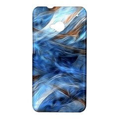 Blue Colorful Abstract Design  HTC One M7 Hardshell Case