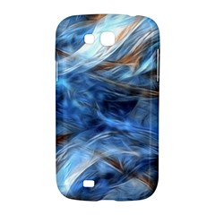 Blue Colorful Abstract Design  Samsung Galaxy Grand GT-I9128 Hardshell Case