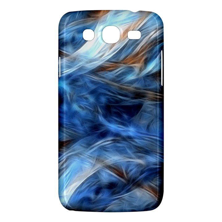 Blue Colorful Abstract Design  Samsung Galaxy Mega 5.8 I9152 Hardshell Case