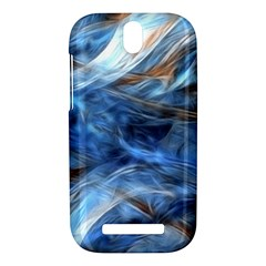 Blue Colorful Abstract Design  HTC One SV Hardshell Case