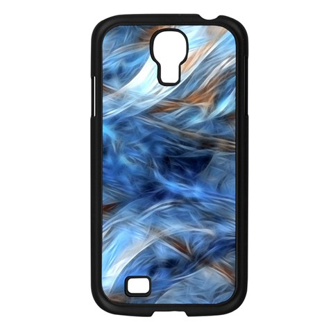 Blue Colorful Abstract Design  Samsung Galaxy S4 I9500/ I9505 Case (Black)