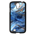 Blue Colorful Abstract Design  Samsung Galaxy S4 I9500/ I9505 Case (Black) Front
