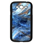 Blue Colorful Abstract Design  Samsung Galaxy Grand DUOS I9082 Case (Black) Front
