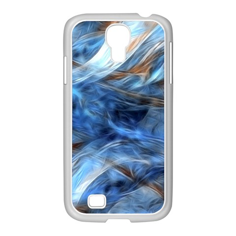 Blue Colorful Abstract Design  Samsung GALAXY S4 I9500/ I9505 Case (White)