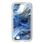 Blue Colorful Abstract Design  Samsung GALAXY S4 I9500/ I9505 Case (White) Front